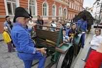 V Českých Budějovicích se představila replika mechanického vozu z roku 1825.