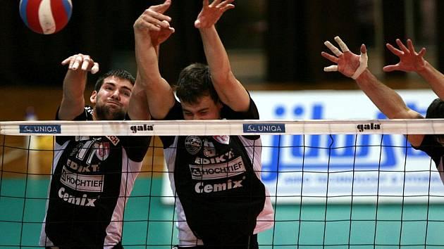 Volejbalisté Jihostroje ČB vyhráli v Ústí 3:0 a zahrají si v semifinále s Příbramí.