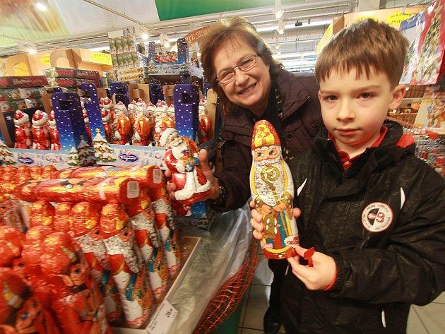 Vánoce v supermarketu Terno.