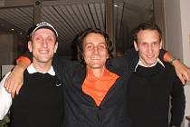 Lukáš Hejný (zleva), Martin Pokorný a Filip Hejný se spojili i při Le Tour dvě Liberty.