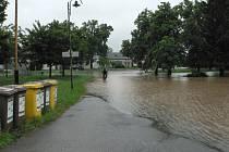 Velká voda v Hrdějovicích.