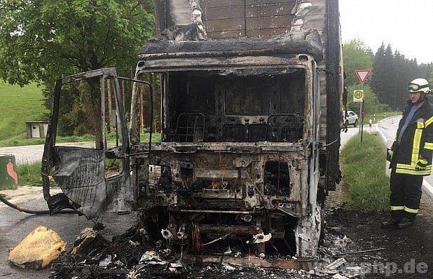 Kabina po požáru.