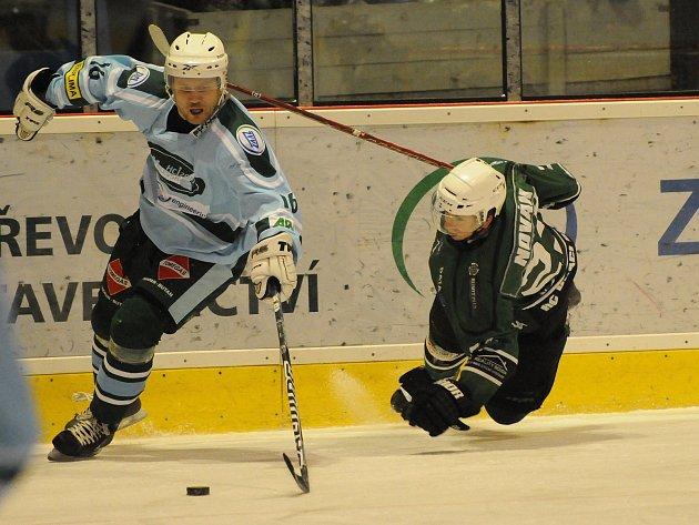 Z utkání hokejistů Milevska a Bíliny