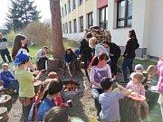 Vítání jara na Základní škole Fantova v Kaplici.