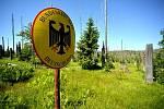 Cesta na Modrý sloup na Šumavě.