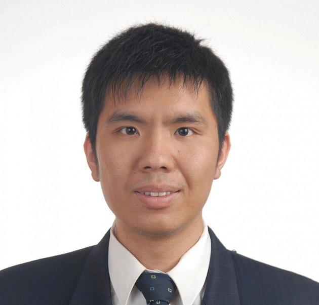 Čínský student biologie Zhenqiu Huang.