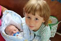 12.9.2014 ve 12,10 hod se rodičům Jaroslavě a Davidovi Šimáčkovým v českobudějovické nemocnici narodilo druhé dítě, chlapeček Antonín Šimáček. Vážil 3,38 kg, měřil 50 cm. Na fotce je se svou starší tříletou sestřičkou Magdalénkou.