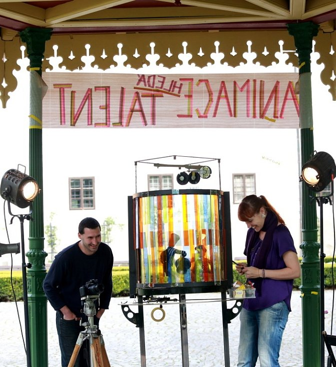 Anifilm 2014 v Třeboni. Soutěž Animace hledá talent v zámeckém parku.
