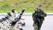 Policisté, profesionální vojáci i členové aktivních záloh cvičili na Temelíně ochranu jaderné elektrárny.