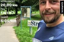 Běžec z jihu Ondřej Masák jako první splnil výzvu