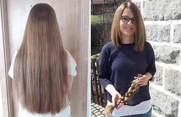 Darovala své vlasy nemocným.