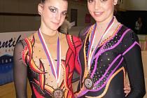 Dominika Červenková (vpravo) reprezentovala ČR na OH v Aténách. Po pauze se opět vrací na vrcholovou scénu. Na snímku ze závodů v Brně s Anetou Fujdiarovou.