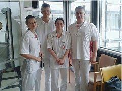 Zahraniční zdravotnictví a vzdělávání poznávali studenti Střední zdravotnické školy a Vyšší odborné školy zdravotnické České Budějovice v Německu a na Slovensku v rámci mezinárodního projektu. Na snímku na klinice v Berlíně.