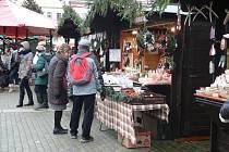 Adventní trhy na náměstí Přemysla Otakara II. Ilustrační foto