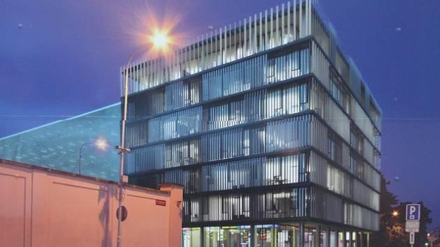 Pro veřejnost má nový parkovací dům u českobudějovické věznice nabídnout zhruba 240 míst.