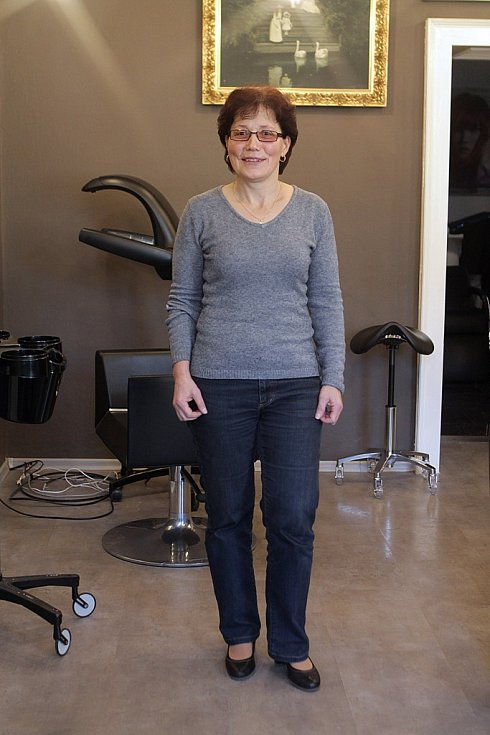 Takto dorazila na Proměnu s Plus Deníkem čtyřiapadesátiletá Hana  Houšková. Dorazila na kole a s úsměvem na rtech. Na proměnu se prý velmi těšila.