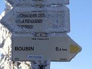 Zasněžený Boubín.