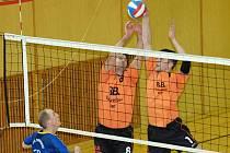 Volejbalisté EGE České Budějovice prohráli se druhými Dobřichovicemi a díky horšímu skóre tak přišli o pzici lídra první ligy.