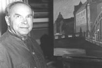 Ota Matoušek v ateliéru.