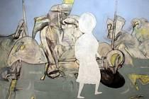 Poutnice kráčí dál má název výstava, na níž se do 12. října představuje v Alšově jihočeské galerii Petr Pavlík.