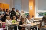 Noví žáci 1.A na základní škole Emy Destinové v Českých Budějovicích.