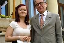 Tereza Novotná s izraelským velvyslancem Yaakovem Levym