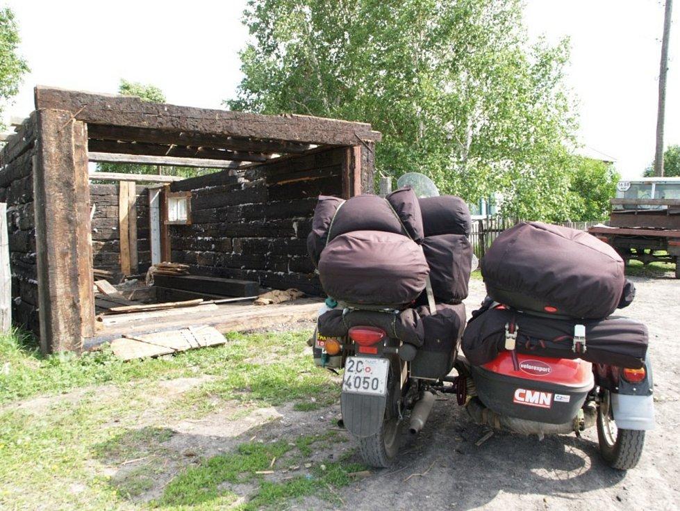 Petr Hošťálek kousek před Novosibirskem