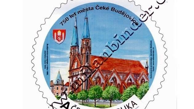 Unikátní kulaté známky budou znázorňovat Budějovice.