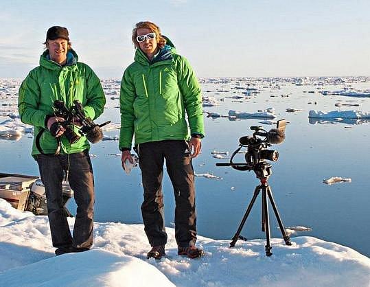 Reichel (vlevo) a Hinterbrandner na Baffinově ostrově.