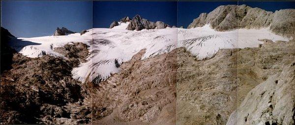 Hallstattský ledovec taje.