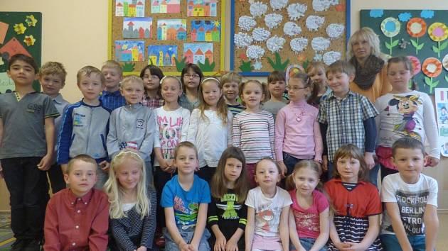 Děti z 1. B Základní školy Hluboká nad Vltavou.