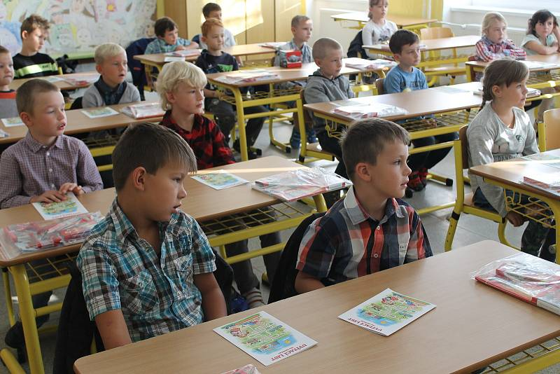 První školní den v ZŠ a MŠ Rudolfov