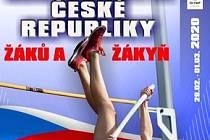 Plakát šampionátu mladých atletů.