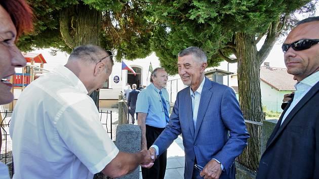 Andrej BAbiš navštívil Jivno u Českých Budějovic.