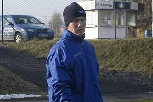 Osmnáctiletý útočník Amir Bucan, jenž do Dynama přichází na zkoušku ze Superfundu Pasching, při  úterním tréninku na Složišti.