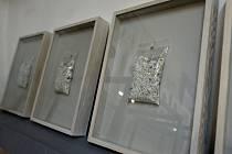 Roman Týc vrací paměť lidskému popelu. Instalace zůstane v krumlovském Egon Schiele Art Centru do 15. září. Některá díla dokonce prodává (snímek).