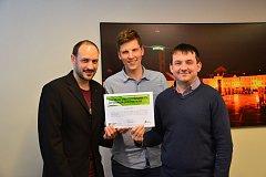 Vědci z Jihočeské univerzity uspěli se svou prací o turismu v Evropské unii. Zleva Petr Štumpf, Petr Janeček a Viktor Vojtko.