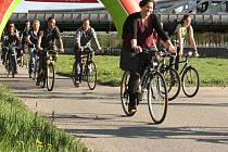Cílem letošní cyklojízdy byla Náplavka a také kavárna Lanna. Celá akce se snaží zviditelnit budějovické cyklisty, kteří na kole jezdí pravidelně třeba do práce.