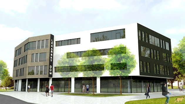 Čtyři podlaží má mít lékařský dům, který vzniká vedle Nákupního centra Géčko a v těsné blízkosti sídliště Vltava.