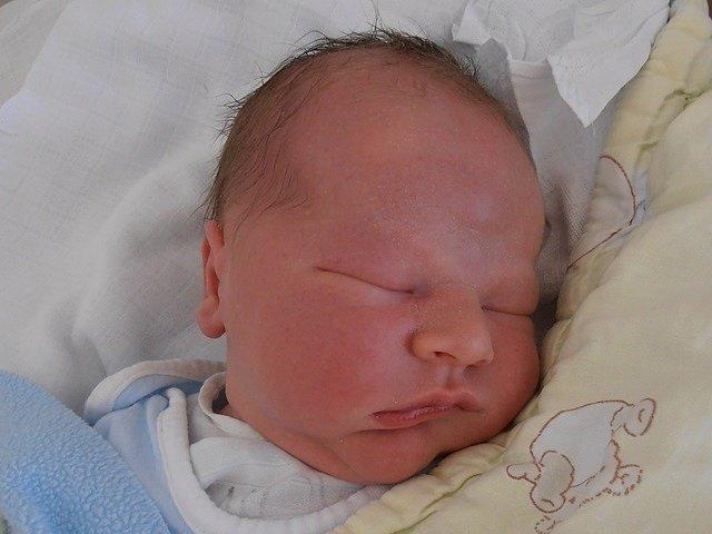 Tříletá Kristinka už doma v Dolním Třeboníně netrpělivě vyhlíží příjezd bratříčka Filipa Kozla. Ten přišel na svět s úctyhodnou porodní váhou 4,04 kg v úterý 9.9.2014 v 16 hodin a 58 minut.