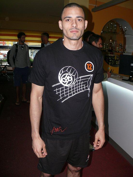 Brazilec Daniel de Souza na tréninku Jihostroje