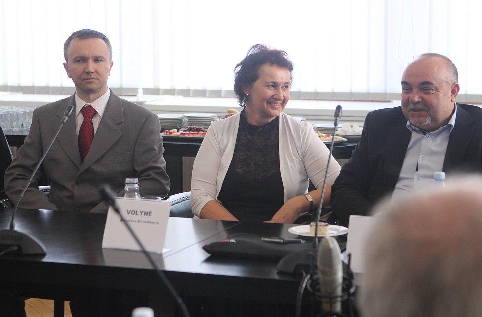 Vyhlášení Zlatého erbu na krajském úřadě v Českých Budějovicích
