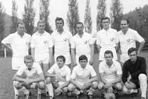 Fotbalisté Škody Č. Budějovice v srpnu 1968 v Hirzenheimu.