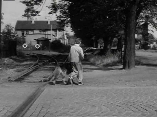 Železniční vlečka směrem k  Vodní ulici, která funguje dodnes.