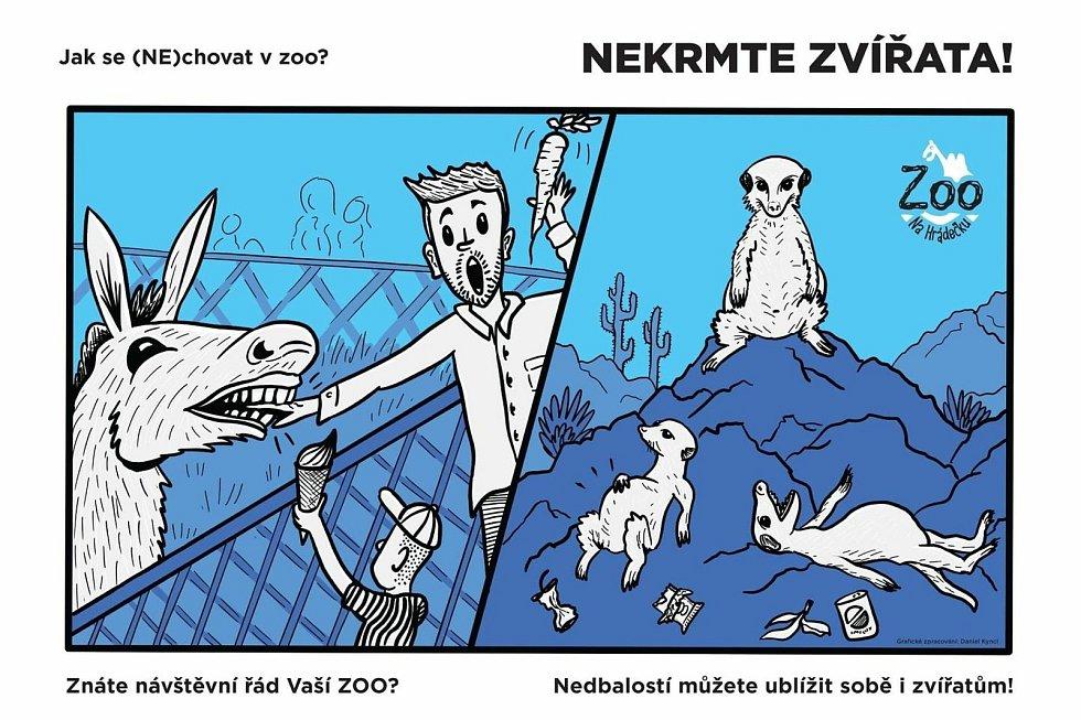 Zoo Na Hrádečku bojuje proti nevhodnému chování návštěvníků pomocí kampaně: Jak se (NE)chovat v zoo.