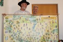 Marcel Goetz a Jaroslav Kerles s rekordní mapou Pohádkového království.