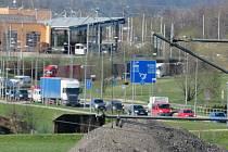 Dopravní situace v Českých Budějovicích v pátek 23. dubna.