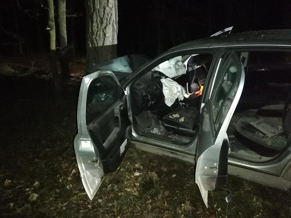 Nedaleko Mydlovarského rybníka došlo na Silvestra ke smrtelné dopravní nehodě.