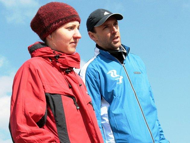 Jihočeská atletika (Sokol ČB) se může těšit na PMEZ v krosu. Na snímku trenér Petr Bahenský s Veronikou Faktorovou.
