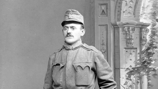 Pekař Jaroslav Winkler v době, kdy rukoval na frontu první světové války.